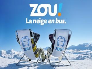 Zou ! The snow by bus